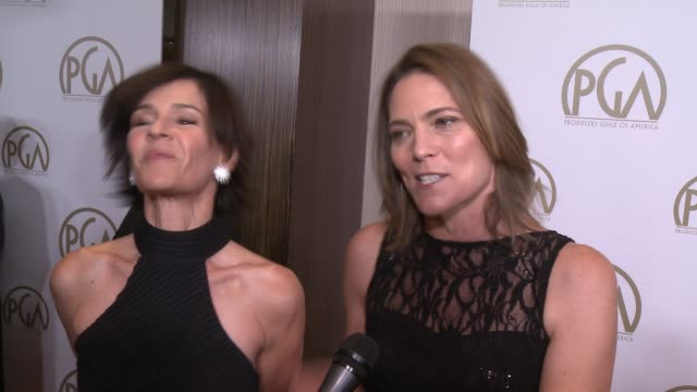 vidéos et rushes de jane hartwell, kristine belson on the event at 25th annual producers guild awards at the beverly hilton hotel on in beverly hills, california. - producer's guild of america awards