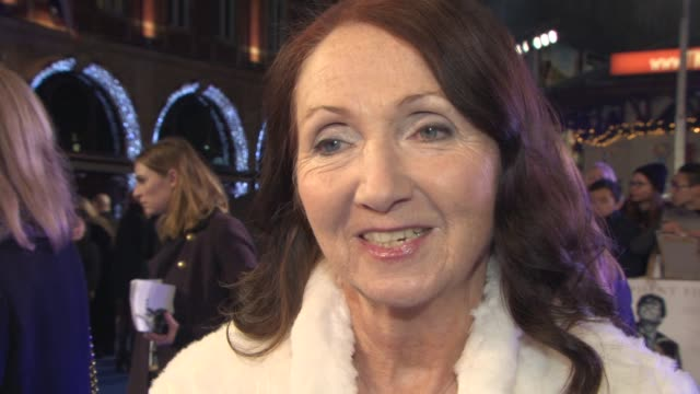interview jane hawking on why she wanted to tell the story at 'the theory of everything' uk film premiere at odeon leicester square on december 08... - audio electronics stock videos & royalty-free footage