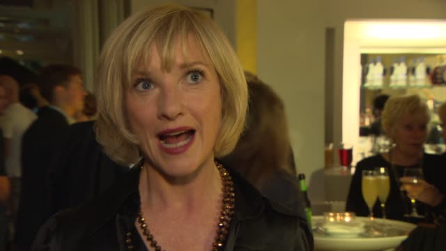 interview jane horrocks on the story the stage version playing her character at 'sunshine on leith' special screening at bafta on september 23 2013... - jane horrocks stock videos & royalty-free footage