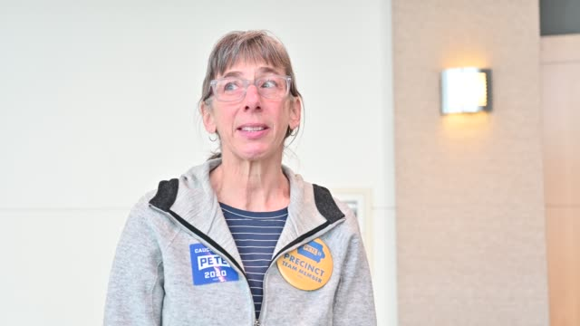 jane lando of malvern ia speaks about why she has chosen to support democratic presidential candidate former south bend indiana mayor pete buttigieg... - iowa stock videos & royalty-free footage