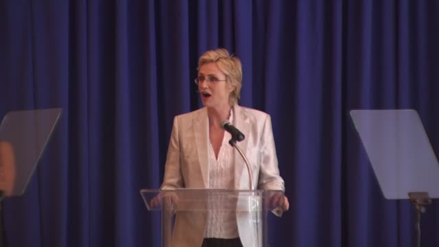 jane lynch acceptance at the hollywood foreign press association's installation luncheon at los angeles ca - jane lynch stock videos and b-roll footage