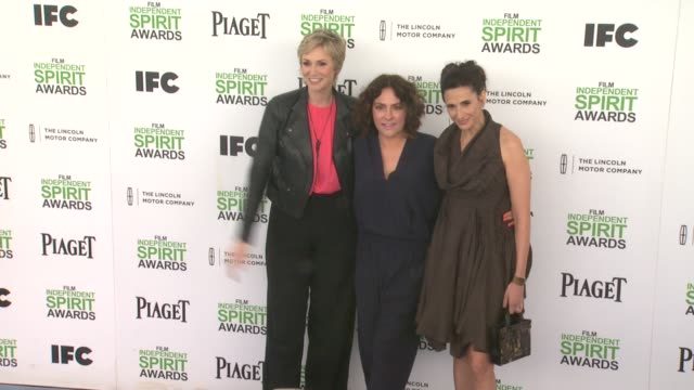 jane lynch and guests 2014 film independent spirit awards arrivals on march 01 2014 in santa monica california - jane lynch stock videos and b-roll footage