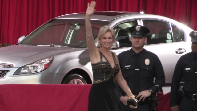 jane lynch and lara embry arrive at sag awards at celebrity sightings in los angeles jane lynch and lara embry arrive at sag awards at at the shrine... - shrine auditorium stock videos & royalty-free footage