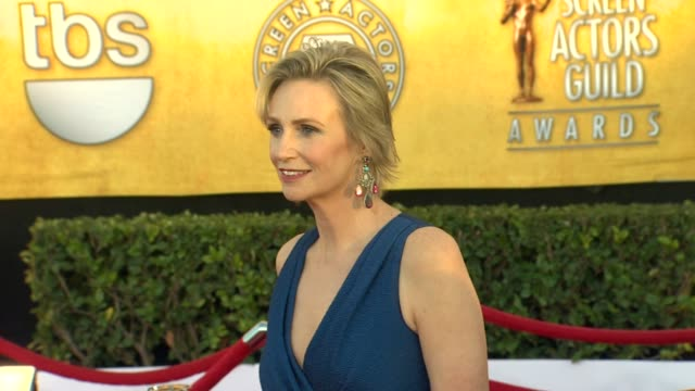 jane lynch at 18th annual screen actors guild awards arrivals on 1/29/12 in los angeles ca - jane lynch stock videos and b-roll footage