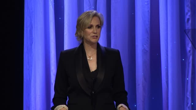 speech jane lynch at 2014 princess grace awards gala with presenting sponsor christian dior couture in los angeles ca - jane lynch stock videos and b-roll footage