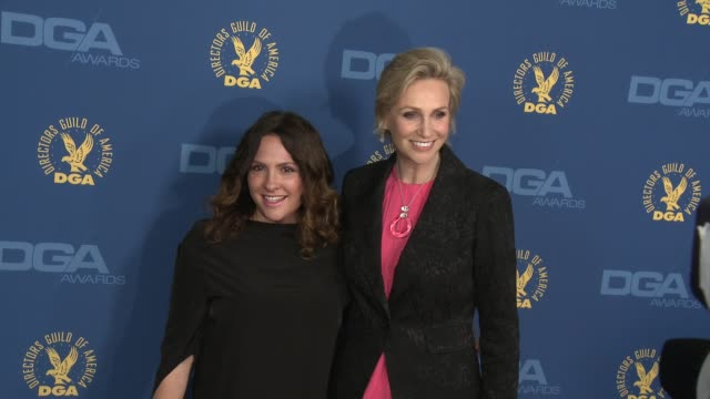 jane lynch at 65th annual directors guild of america awards arrivals 2/2/2013 in hollywood ca - jane lynch stock videos and b-roll footage