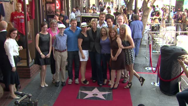jane lynch at jane lynch honored with star on the hollywood walk of fame jane lynch at jane lynch honored with star on the at hollywood walk of fame... - jane lynch stock videos and b-roll footage