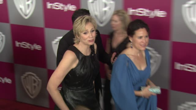 jane lynch at the 2011 instyle/warner brothers golden globe awards party at beverly hills ca - jane lynch stock videos and b-roll footage