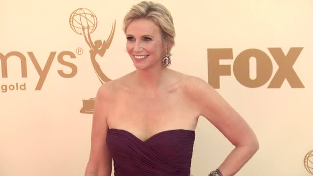jane lynch at the 63rd primetime emmy awards arrivals part 1 at los angeles ca - 63rd annual primetime emmy awards stock videos and b-roll footage