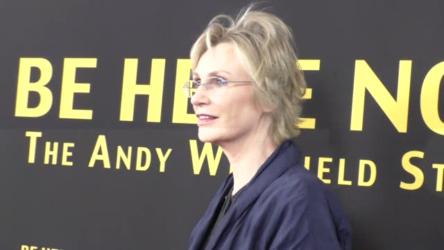 jane lynch at the premiere of silver lining entertainment's be here now at uta theater in beverly hills at celebrity sightings in los angeles on... - jane lynch stock videos and b-roll footage