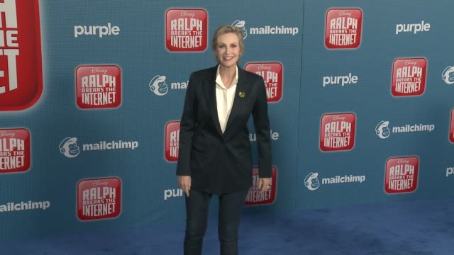 """jane lynch at the """"ralph breaks the internet"""" world premiere at the el capitan theatre on november 05, 2018 in hollywood, california. - el capitan theatre stock videos & royalty-free footage"""