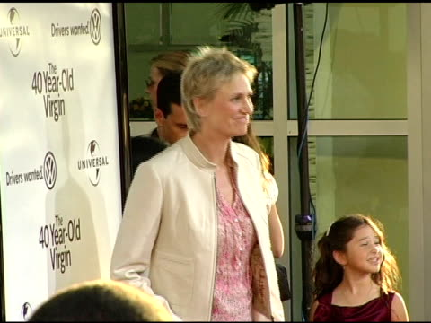 jane lynch at the 'the 40yearold virgin' premiere at arclight cinemas in hollywood california on august 11 2005 - jane lynch stock videos and b-roll footage