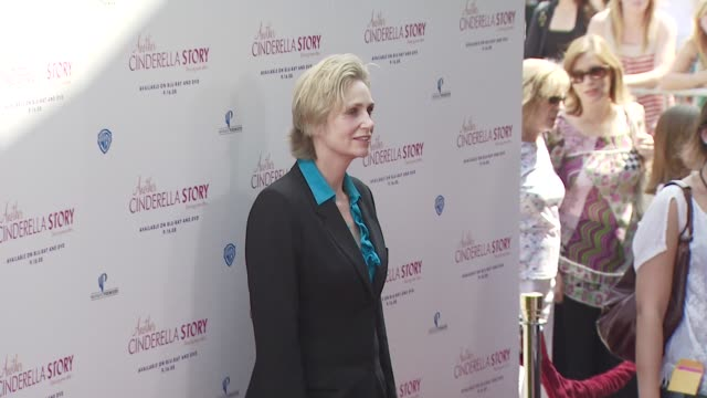 jane lynch at the the premiere of warner premiere's another cinderella story at los angeles ca - cinderella stock videos & royalty-free footage