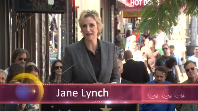 chyron jane lynch honored with star on the hollywood walk of fame event capsule chyron jane lynch honored with sta at hollywood walk of fame on... - jane lynch stock videos and b-roll footage