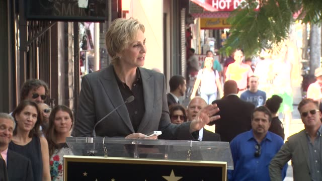 clean jane lynch honored with star on the hollywood walk of fame event capsule clean jane lynch honored with star at hollywood walk of fame on... - jane lynch stock videos and b-roll footage