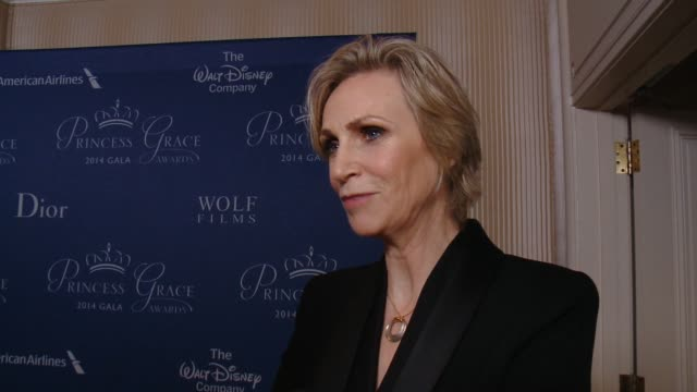 interview jane lynch on her relationship with the princess grace foundation why the work the foundation does is so important in the entertainment... - jane lynch stock videos and b-roll footage