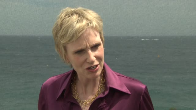 jane lynch on knowing people would like it because of the music and feel of the show glee at the 50th monte carlo tv festival jane lynch interview at... - glee tv show stock videos and b-roll footage