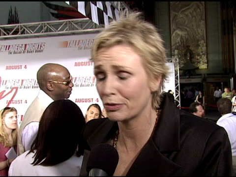 jane lynch on playing ricky bobby's mom on how she became a fan of nascar after making the film and on how the script was improvised at the... - jane lynch stock videos and b-roll footage
