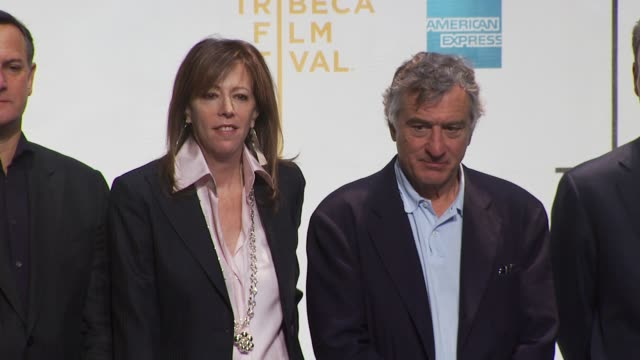 jane rosenthal and robert de niro at the tribeca film festival opening press conference at new york ny. - tribeca festival stock videos & royalty-free footage