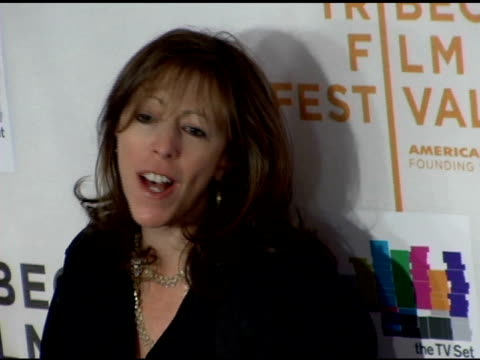 jane rosenthal at the 2006 tribeca film festival 'the tv set' premiere at tribeca performing arts center in new york new york on april 28 2006 - performing arts center stock videos & royalty-free footage