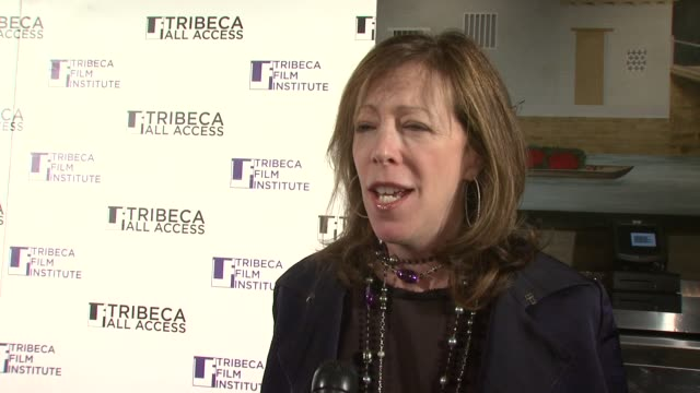 vídeos de stock, filmes e b-roll de jane rosenthal on how the program began how the select the finalist and what she hopes the winners at the tribeca all access awards ceremony at... - finalist