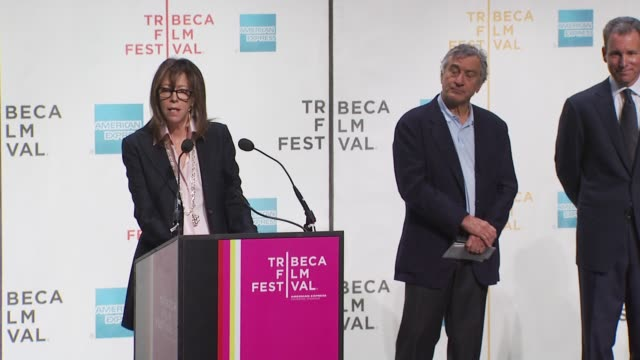 jane rosenthal talks about this year's festival. at the tribeca film festival opening press conference at new york ny. - tribeca festival stock videos & royalty-free footage