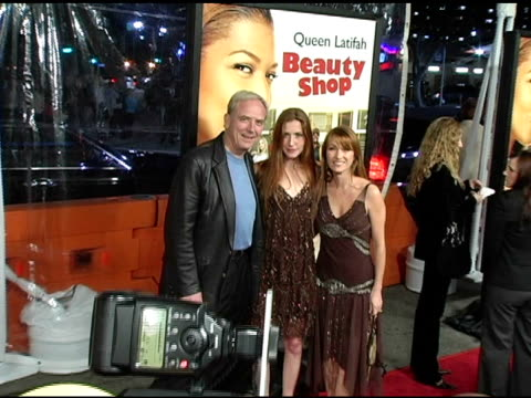 jane seymour and daughter katie at the 'beauty shop' world premiere at the mann national theatre in westwood california on march 24 2005 - mann national theater stock videos and b-roll footage