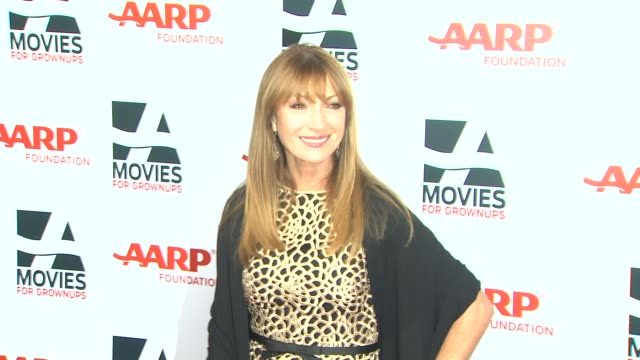 jane seymour at 13th annual aarp's movies for grownups awards gala at regent beverly wilshire hotel on in beverly hills, california. - regent beverly wilshire hotel stock videos & royalty-free footage