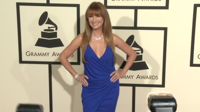 jane seymour at the 58th annual grammy awards® arrivals at staples center on february 15 2016 in los angeles california - grammy awards stock videos and b-roll footage