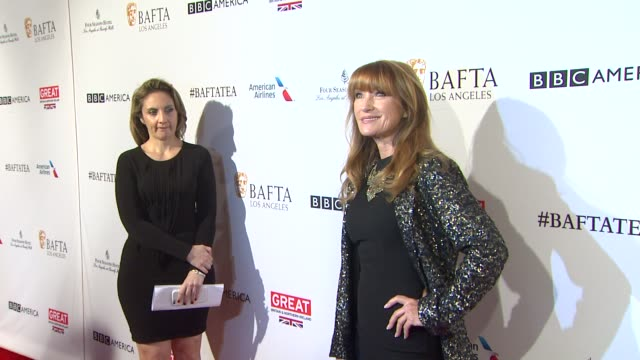 jane seymour at the bafta los angeles awards season tea party at four seasons hotel los angeles at beverly hills on january 09 2016 in los angeles... - tea party stock videos and b-roll footage