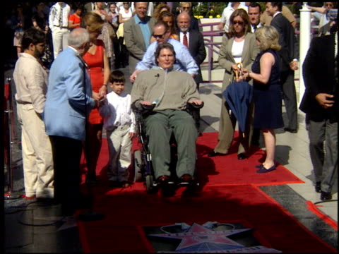 jane seymour at the dediction of christopher reeve's walk of fame star at the hollywood walk of fame in hollywood california on april 15 1997 - walk of fame stock videos & royalty-free footage
