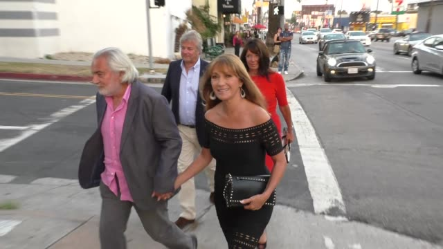 jane seymour at the she's funny that way premiere at harmony gold in west hollywood at celebrity sightings in los angeles on august 19, 2015 in los... - she's funny that way点の映像素材/bロール