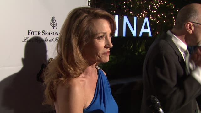 jane seymour at thewrap.com pre-oscar party on 2/22/2012 in beverly hills, ca. - oscar party stock videos & royalty-free footage