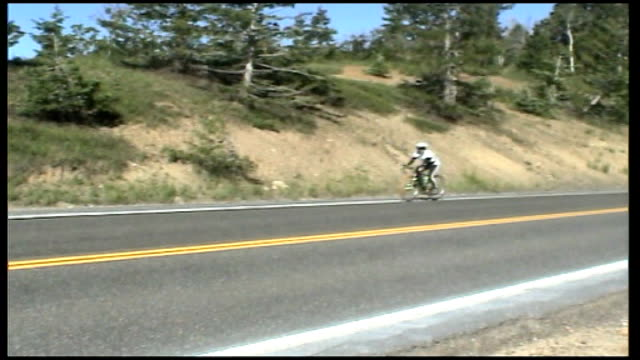 video diary after crossing utah desert usa ext jane tomlinson sot cycled into carson city through some really heavy winds / hills we cycled are... - schist stock videos and b-roll footage