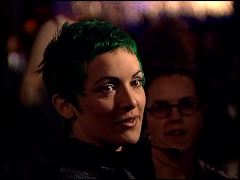 jane wiedlin at the bmg grammy awards party at miracle mile wilshire in los angeles, california on february 21, 2001. - 奇跡点の映像素材/bロール