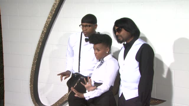 Janelle Monae and band at the Chloe Los Angeles Boutique Opening Celebration at Los Angeles CA