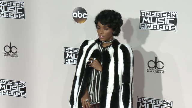 janelle monae at 2016 american music awards at microsoft theater on november 20 2016 in los angeles california - american music awards stock videos and b-roll footage