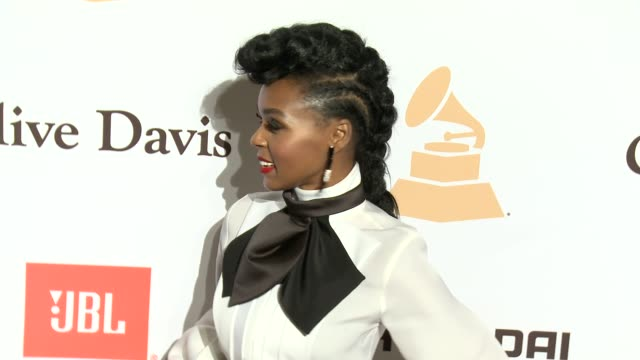 stockvideo's en b-roll-footage met janelle monae at the 2016 pregrammy gala and salute to industry icons honoring irving azoff at the beverly hilton hotel on february 14 2016 in... - irving azoff