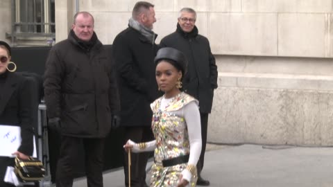 janelle monae attends the chanel show as part of the paris fashion week womenswear fall/winter 2019/2020 on march 5, 2019 in paris, france. - celebrity sightings stock videos & royalty-free footage