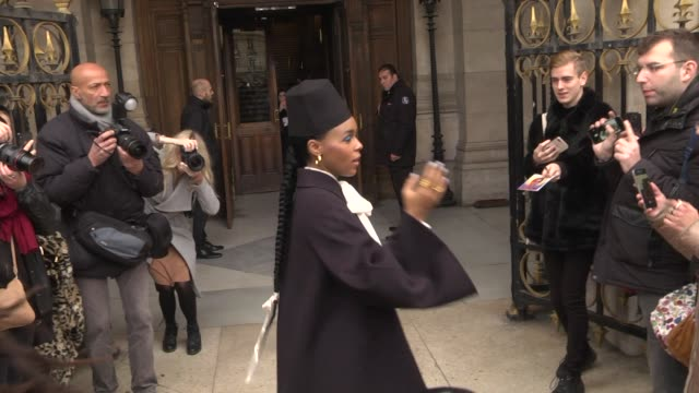 janelle monae attends the stella mccartney show as part of the paris fashion week womenswear fall/winter 2019/2020 on march 4 2019 in paris france - celebrity sightings stock videos & royalty-free footage