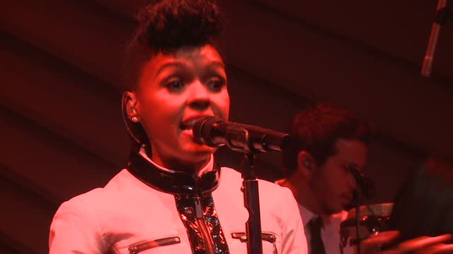 PERFORMANCE Janelle Monae Audi A3 Launch Event at Quixote Studios on April 03 2014 in Los Angeles California
