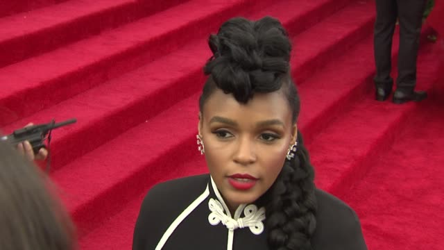 INTERVIEW Janelle Monae on her outfit at China Through The Looking Glass Costume Institute Benefit Gala Arrivals at Metropolitan Museum of Art on May...