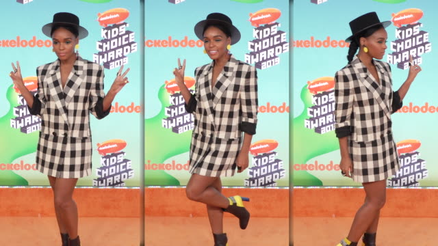 janelle monáe at nickelodeon's 2019 kids' choice awards at galen center on march 23 2019 in los angeles california - nickelodeon bildbanksvideor och videomaterial från bakom kulisserna