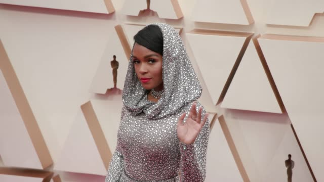 janelle monáe at the 92nd annual academy awards at the dolby theatre on february 09, 2020 in hollywood, california. - academy awards stock videos & royalty-free footage