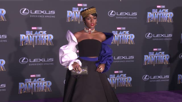 Janelle Monáe at the Marvel Studios' 'Black Panther' World Premiere at Dolby Theatre on January 29 2018 in Hollywood California