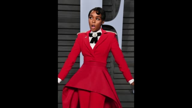 vídeos de stock, filmes e b-roll de janelle monáe attends the 2018 vanity fair oscar party hosted by radhika jones at the wallis annenberg center for the performing arts on march 4 2018... - festa do oscar