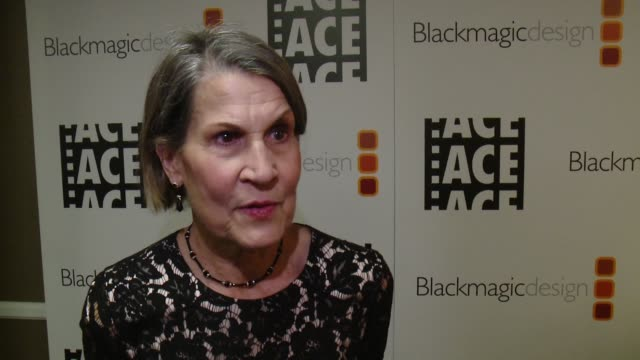 INTERVIEW Janet Ashikaga on her career achievement award at 67th Annual ACE Eddie Awards in Los Angeles CA