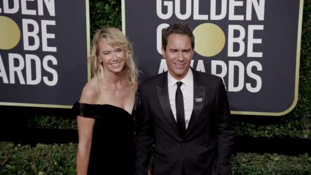 Janet Holden and Eric McCormack at the 75th Annual Golden Globe Awards at The Beverly Hilton Hotel on January 07 2018 in Beverly Hills California