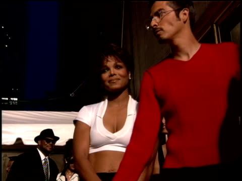 Janet Jackson and Rene Elizondo Jr arriving on the red carpet of the 1995 MTV Video Music Awards