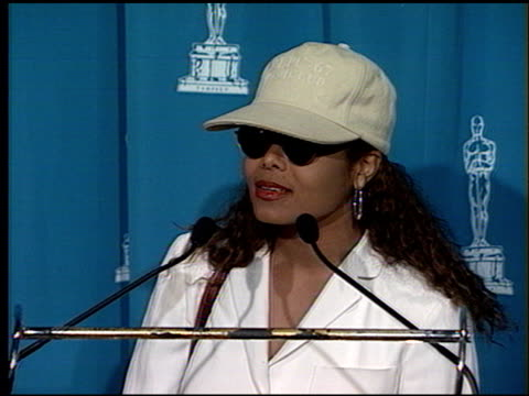 janet jackson at the 1994 academy awards luncheon at the beverly hilton in beverly hills california on march 8 1994 - janet jackson stock videos & royalty-free footage